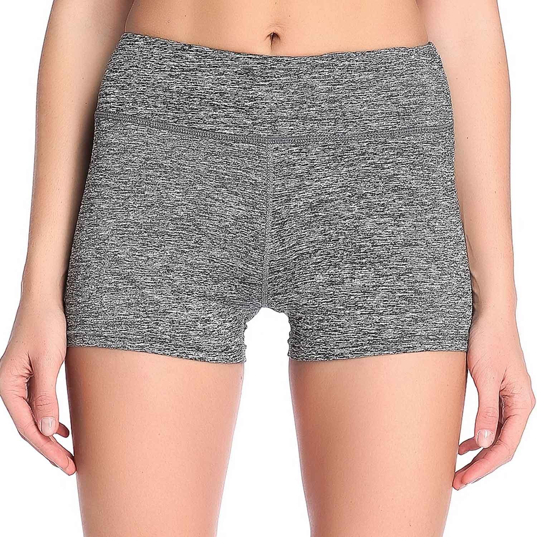 Pantalones deportivos elásticos de la mujer de SOUTEAM Pantalones cortos de la cintura alta con el bolsillo ocultado