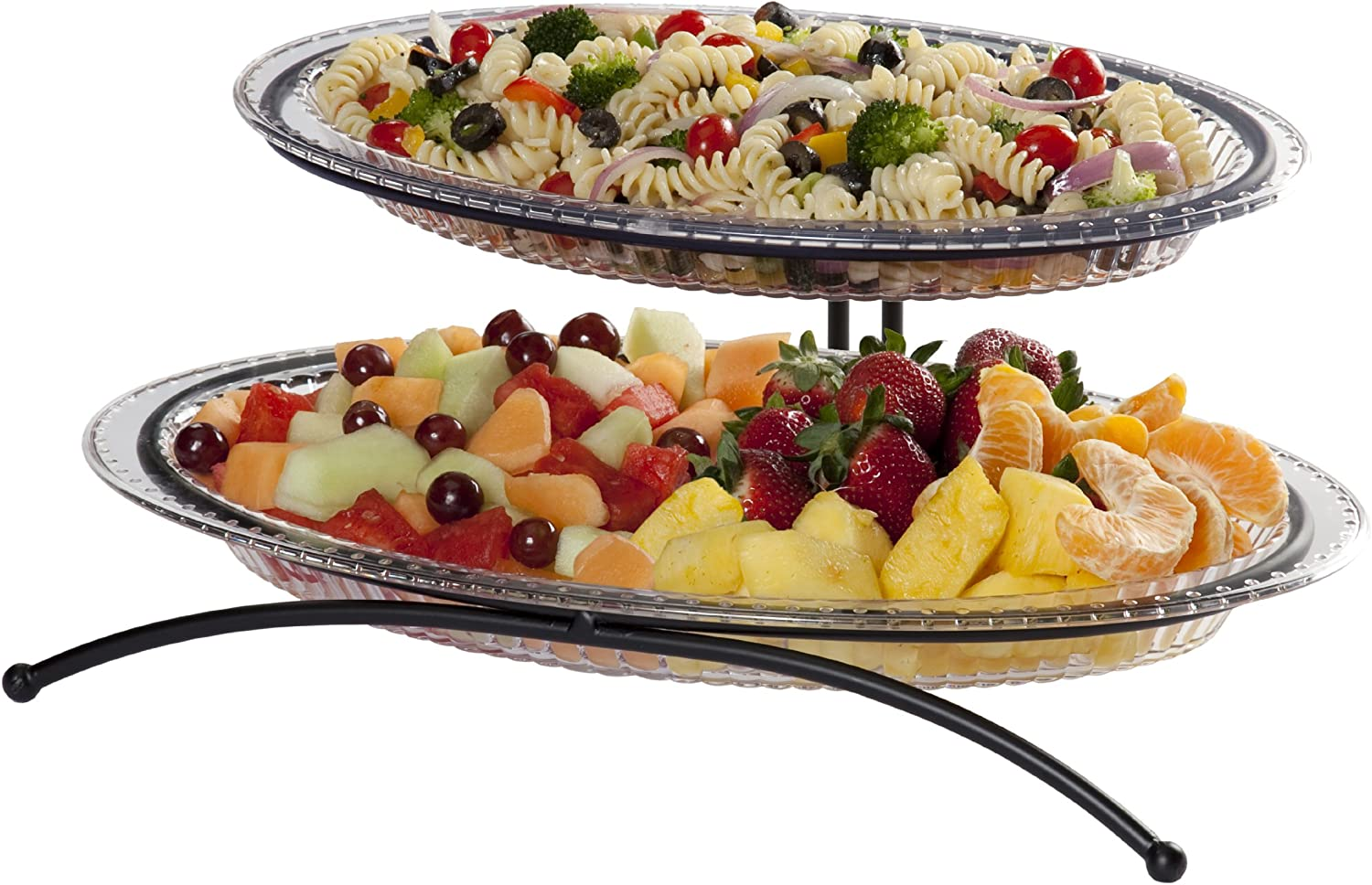Clear Creative Bath 2 Tier Buffet Server with 2 Platters