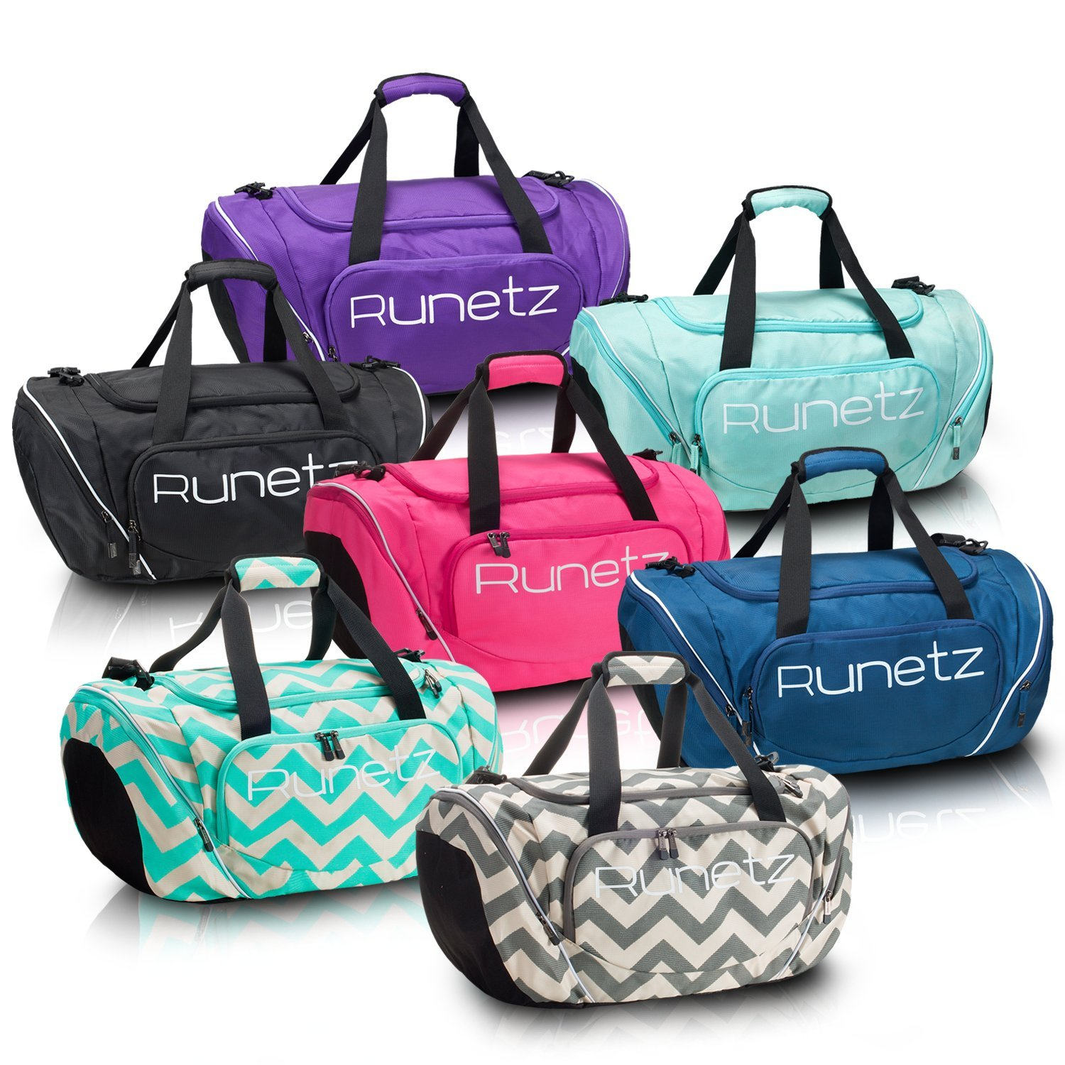 8c5c28d2ae47 Runetz Gym Bag for Women and Men Duffle Bag with Wet Pocket