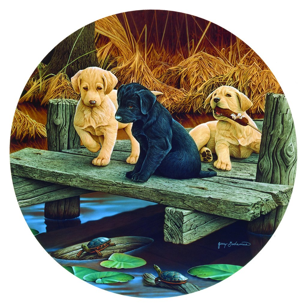 productos creativos Puppies and Friends Friends Friends - A 100 Piece Jigsaw Puzzle by SunsOut by SunsOut  bajo precio