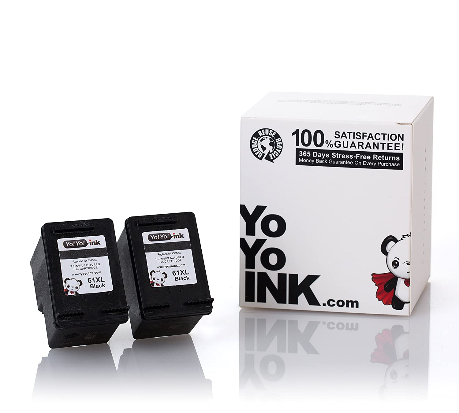 Amazon YoYoInk Remanufactured Ink Cartridge Replacement for HP 61 XL 61XL 2 Black for HP Deskjet 2540 Envy 4500 ficeJet 4500 4630 puters &