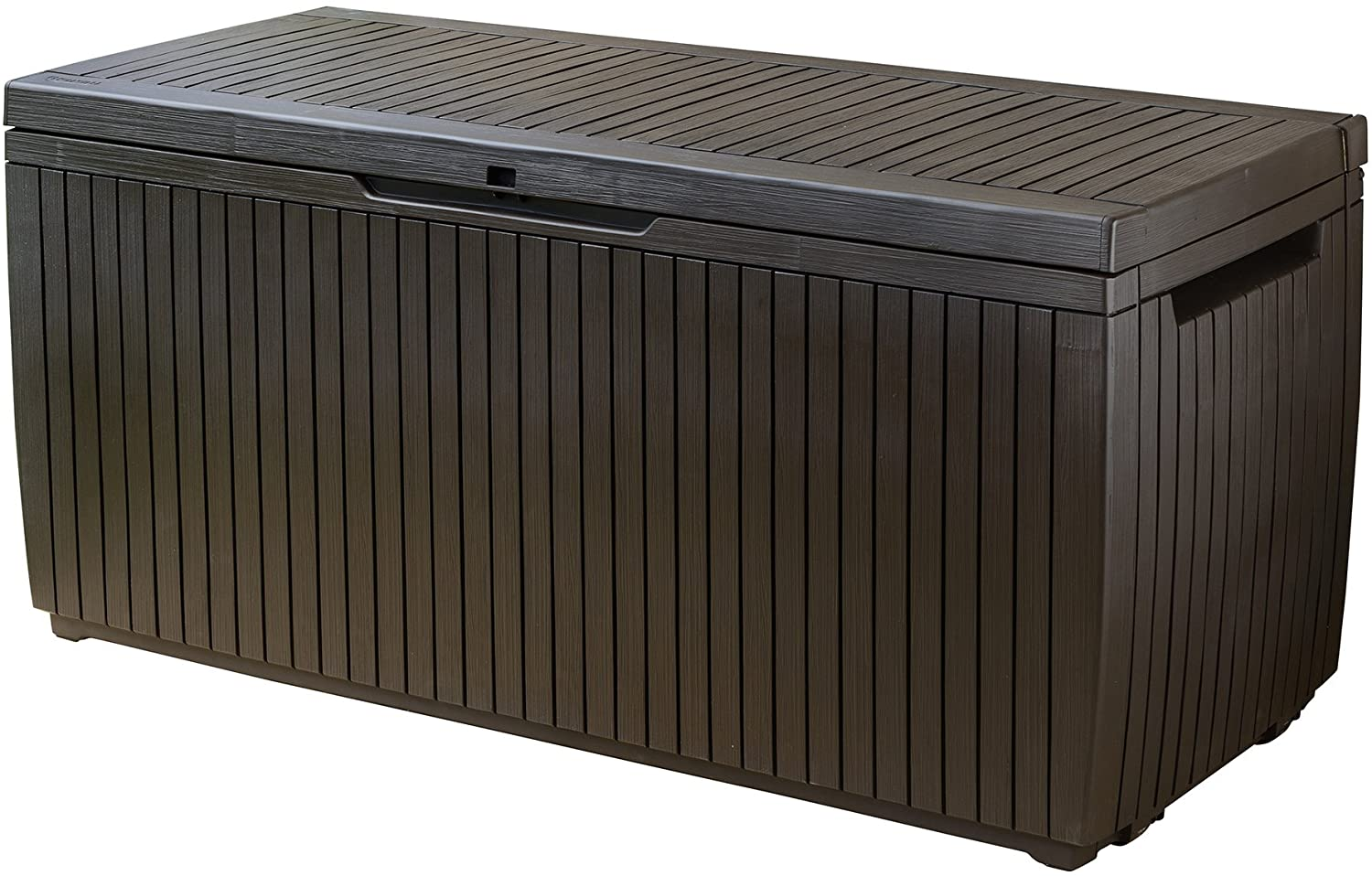 B01M5C6UXN Keter Springwood 80 Gallon Resin Outdoor Storage Box for Patio Furniture Cushions, Pool Toys, and Garden Tools with Handles, Brown 81ttpiRG3oL