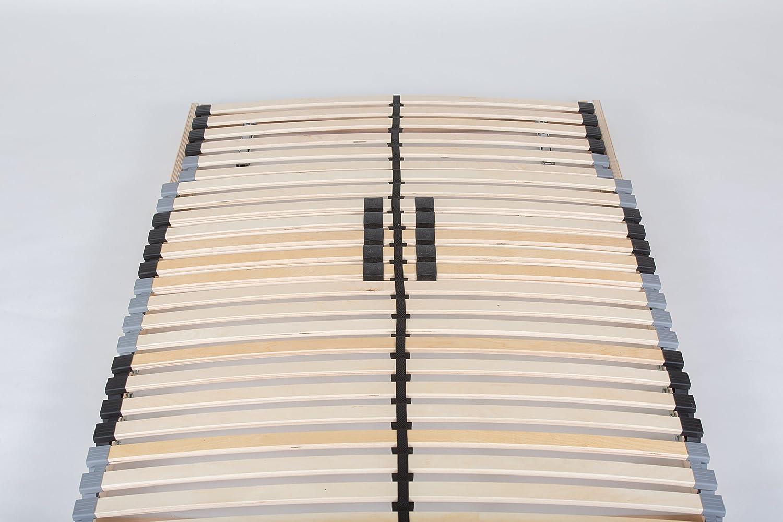 Kopfteil verstellbar TAURO 22921 7-Zonen Lattenrost 140x200 cm Geeignet f/ür alle Matratzen Komfort Lattenrost mit 28 Leisten