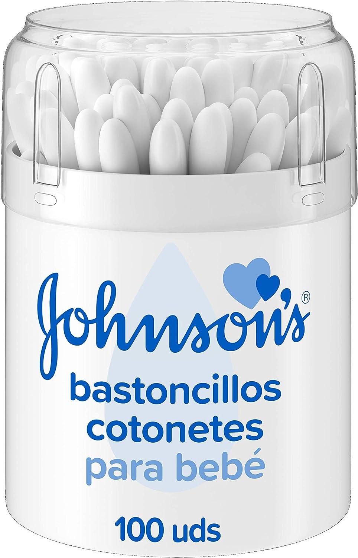 Johnsons Baby Bastoncillos para Bebé con extremos de algodón 100 ...