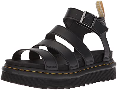 Dr. Martens Women's Vegan Blaire Strappy Flatform Sandals - /Black - UK 8 o1H4UkN