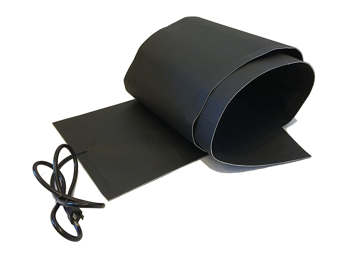 RHS Snow Melting System, roof and valley snow melting mats, Sizes 5' feet x 13' inches, Color black, UL components, 5 ft. mat melts 2' inches of snow per hour, buy factory direct, (5' ft. x 13' in.)