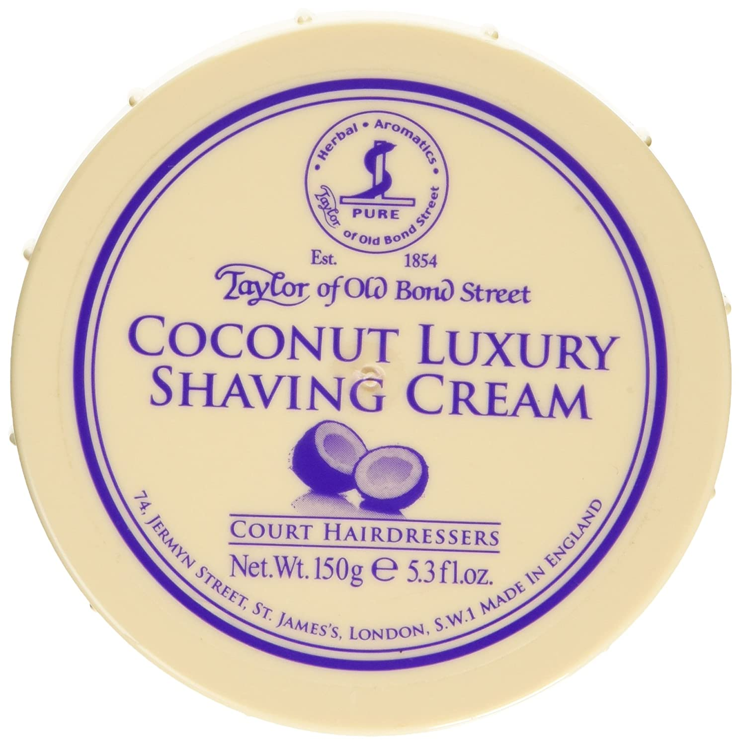 Taylor of Old Bond Street Coconut Shaving Cream Bowl, 150 Gram Spicy World of USA Inc 01016