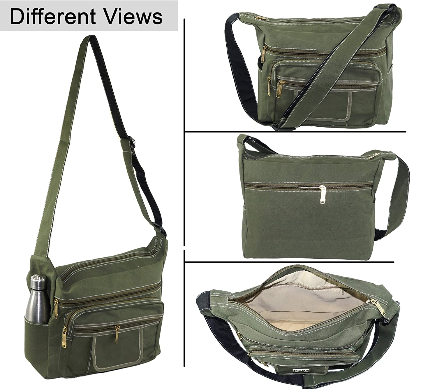 c1f553c88239 Buy SEPAL Canvas Cross Body One Side Shoulder Sling Bag for Men   Women  Green Online at Low Prices in India - Amazon.in