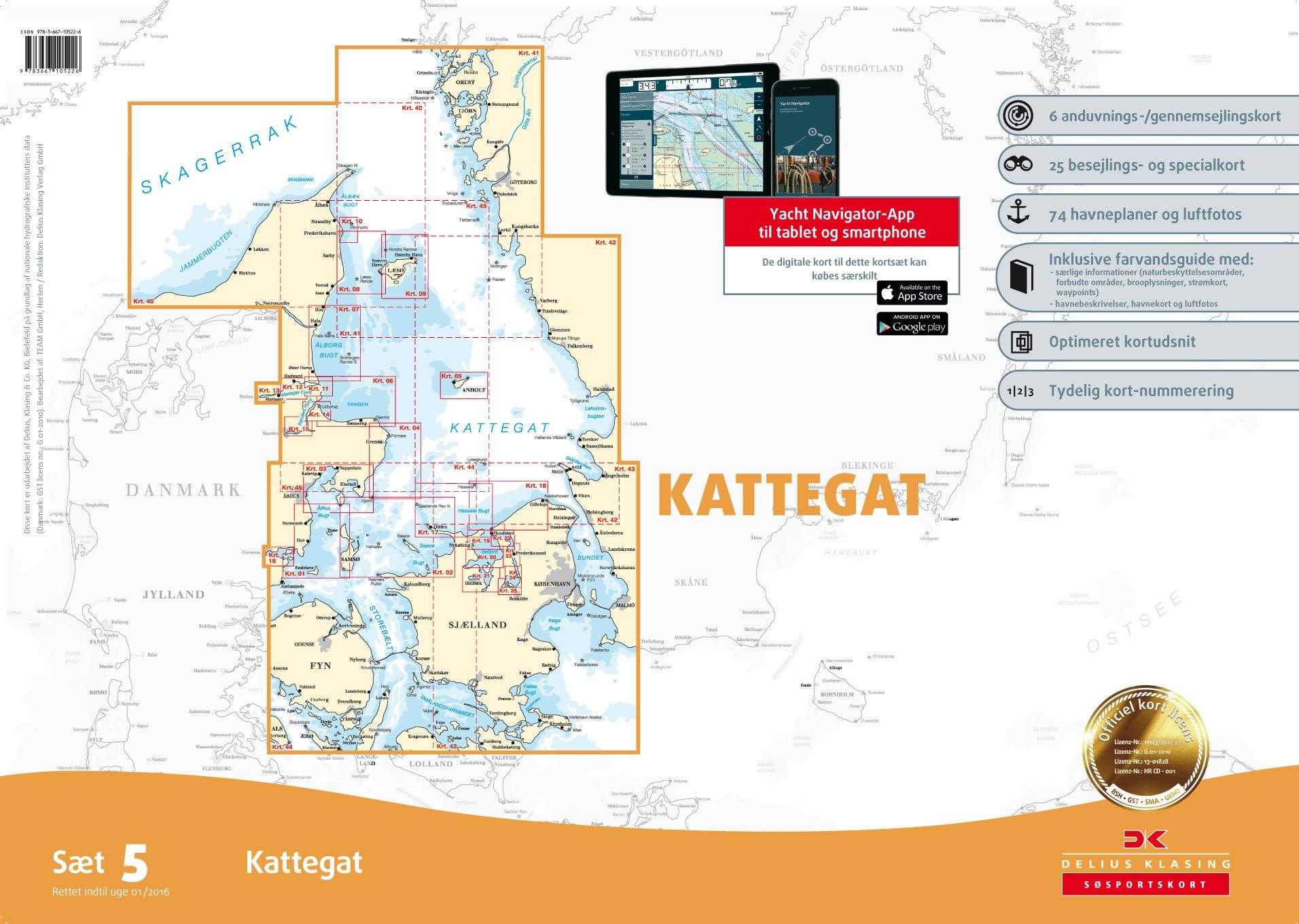 Sportbootkarten Satz 5 Kattegat Ausgabe 2016 9783667105226