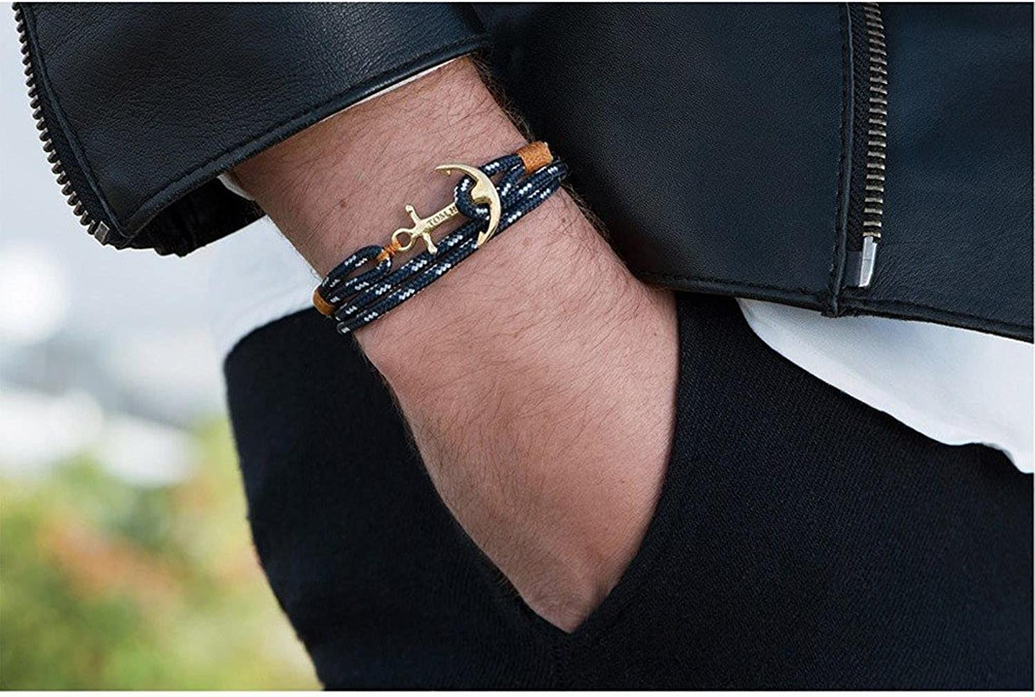 bracelet cuir homme tom hope