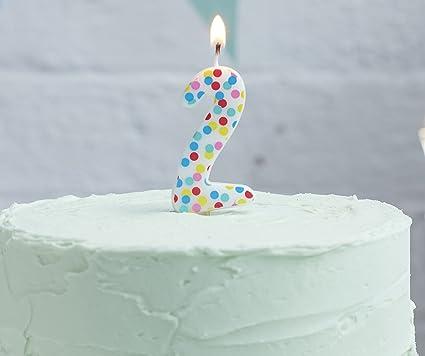 Amazon.com: Ginger Ray - Vela de cumpleaños con lunares ...
