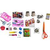 Kriwin Tailoring Travel Sewing Kit | 250 + Sewing Supplies With 2 Scissors & 2 Cutters | Threads & Accessories