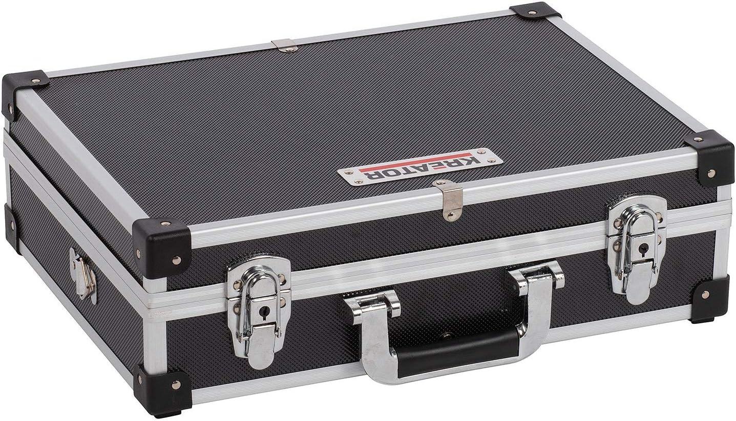 KREATOR KRT640101B - Maletín de alu 420x300x125mm negra