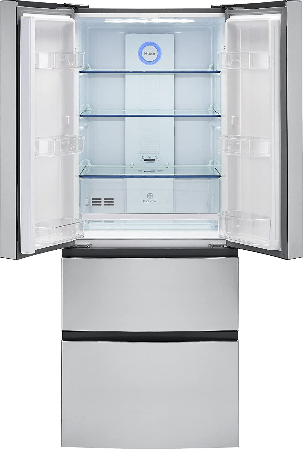 Amazon haier 15 cu ft french door refrigerator 28 width ft french door refrigerator 28 width stainless steel hrf15n3ags appliances rubansaba