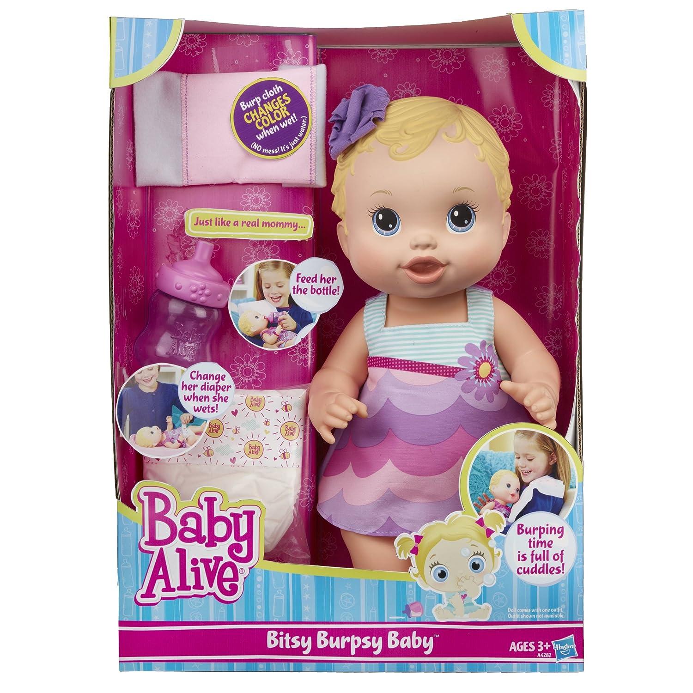 Amazon Baby Alive Bitsy Burpsy Baby Doll Toys & Games