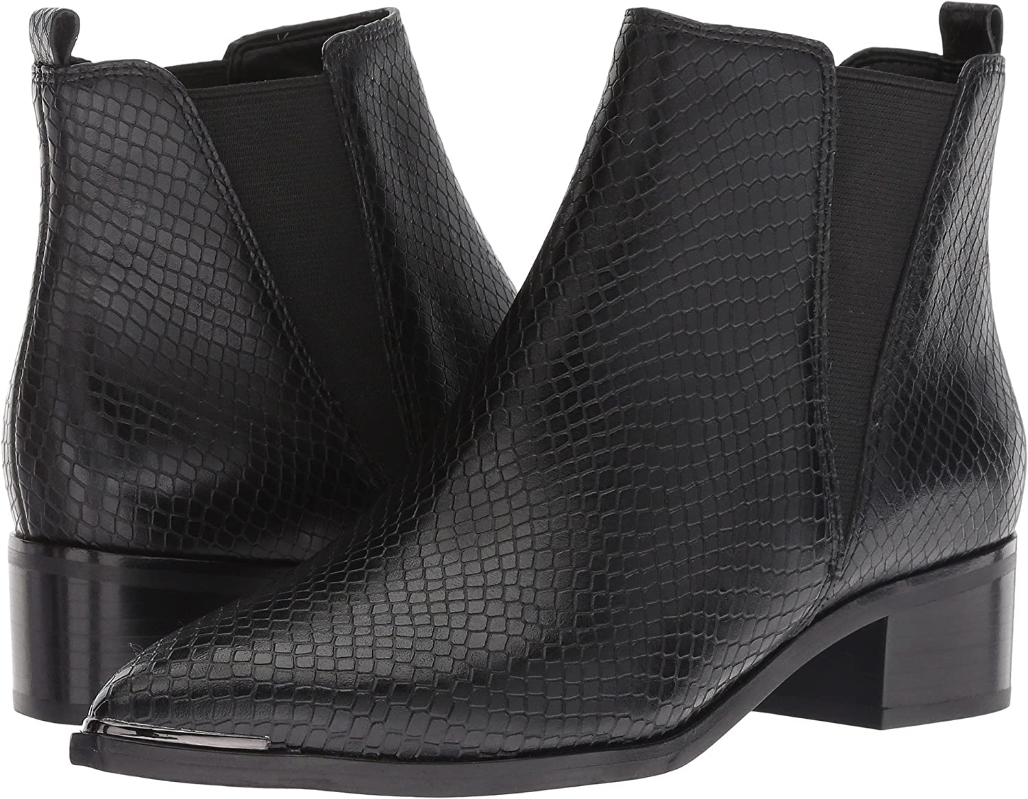 Black Leather Snake Marc Fisher LTD Women's Yale Ankle Bootie