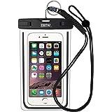 iPhone6/Samsung 防水ケース EOTW® 防水携帯ケース 救助用ネックストラップ付属 IPX8 ブラック