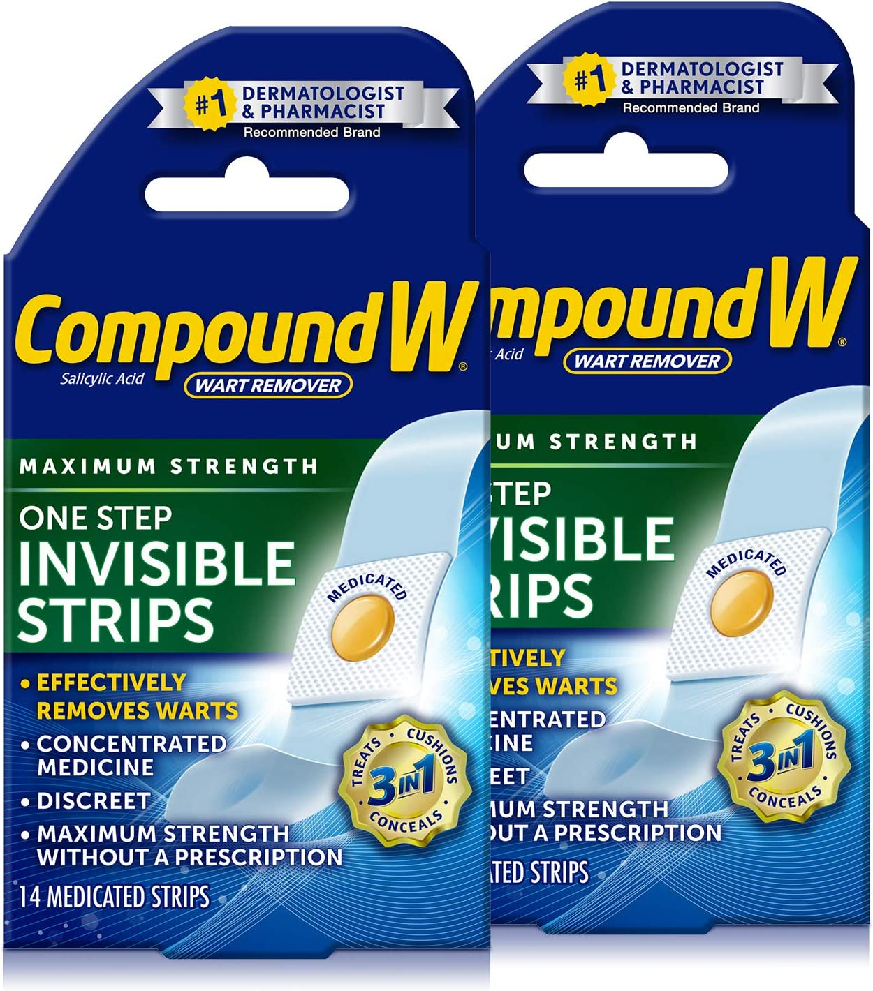 Compound W One Step Pads | Salicylic Acid Wart Remover | 14 Count (Pack of 1) Pads, White: Health & Personal Care