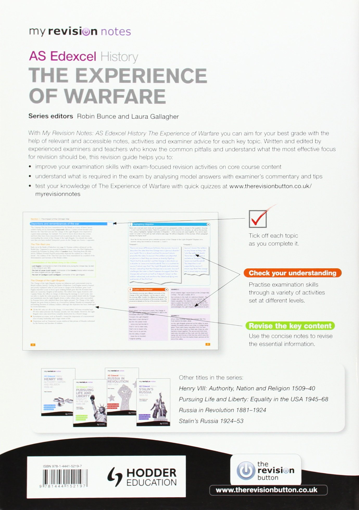 My Revision Notes Edexcel AS History: The Experience of Warfare (MRN): Amazon.co.uk: Barbara Warnock: 9781444152197: Books