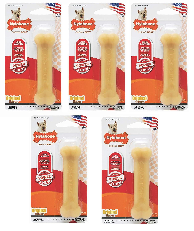 (5 Pack) Nylabone Dura Chew Regular Original Flavored Bone Dog Chew Toy