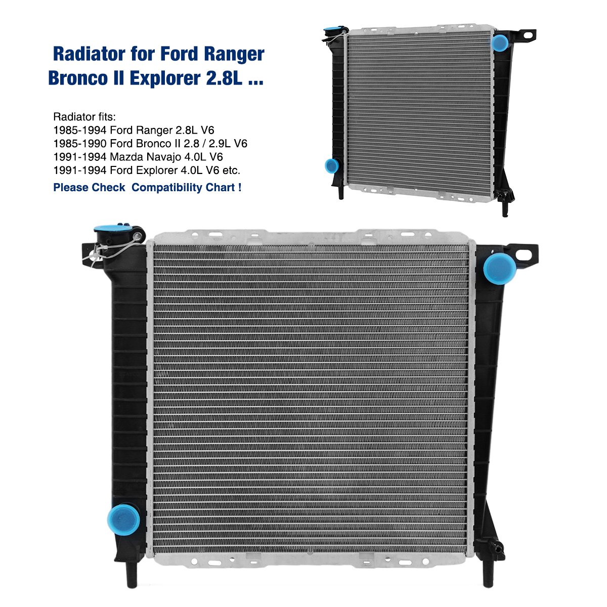 stayco coche Radiador 897 para Ford Ranger Bronco II Explorer 2.8L V6: Amazon.es: Coche y moto
