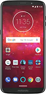 Moto Z3 Play with Alexa Hands-Free – 64 GB – Unlocked (AT&T/Sprint/T-Mobile/Verizon) – Deep Indigo – Prime Exclusive Phone