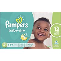 Deals on 132 Count Pampers Baby Dry Disposable Baby Diapers Size 5