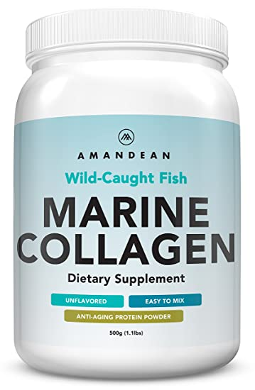 Premium Anti-Aging Marine Collagen Powder 17.6 Oz | Wild-Caught Hydrolyzed Fish Collagen Peptides | Type 1 & 3 Collagen Protein Supplement | Amino ...