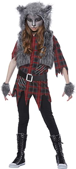 Image result for black and red wolf costume girl