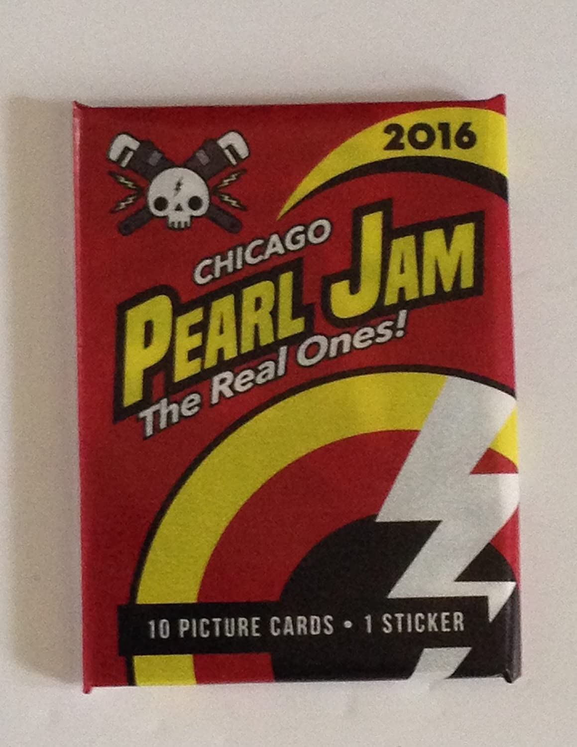 Pearl Jam baseball card pack Chicago 2016 Wrigley field Cubs