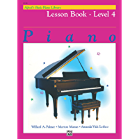 Alfred's Basic Piano Library - Lesson 4: Learn to Play with this Esteemed Piano Method book cover
