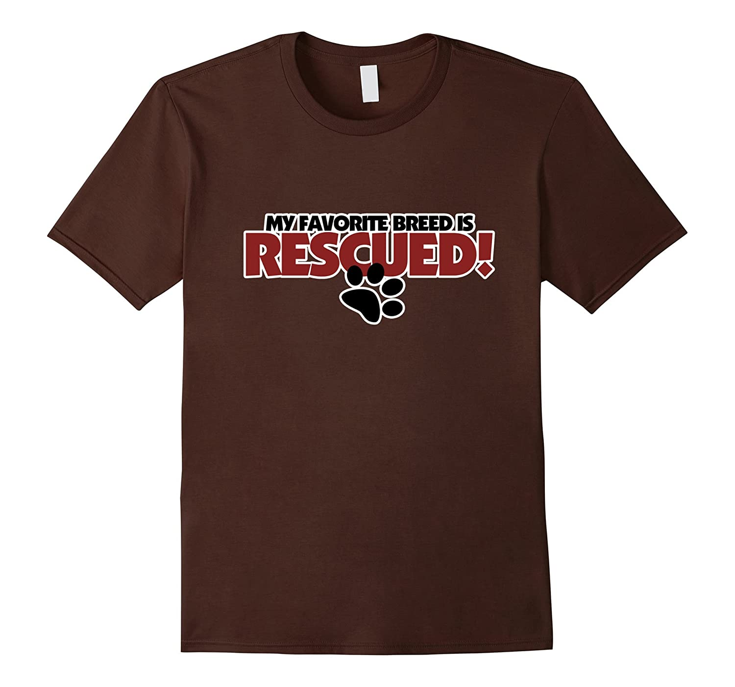 My favorite breed is rescued shirt for shelter dogs-AZP