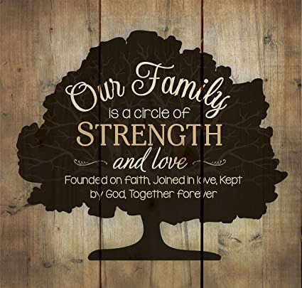 Our Family Circle Of Strength Rustic Tree 10 X Wood Pallet Design Wall Art Sign