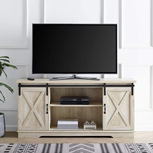 Home Accent Furnishings Tucker 58 Inch Sliding Barn Door TV Console