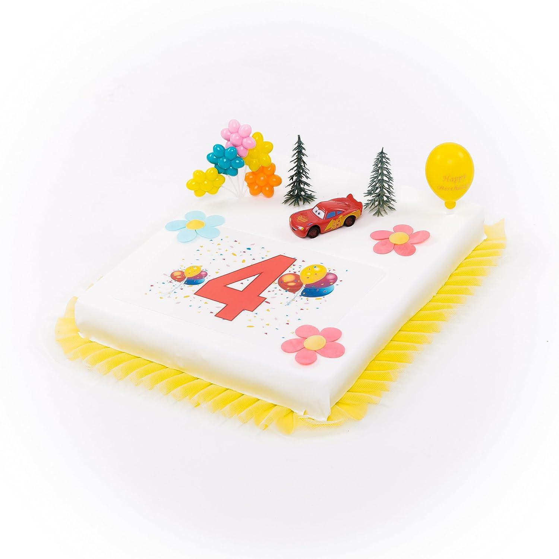 Decoración para tartas Cars 4. Cumpleaños Niño de 9 piezas ...