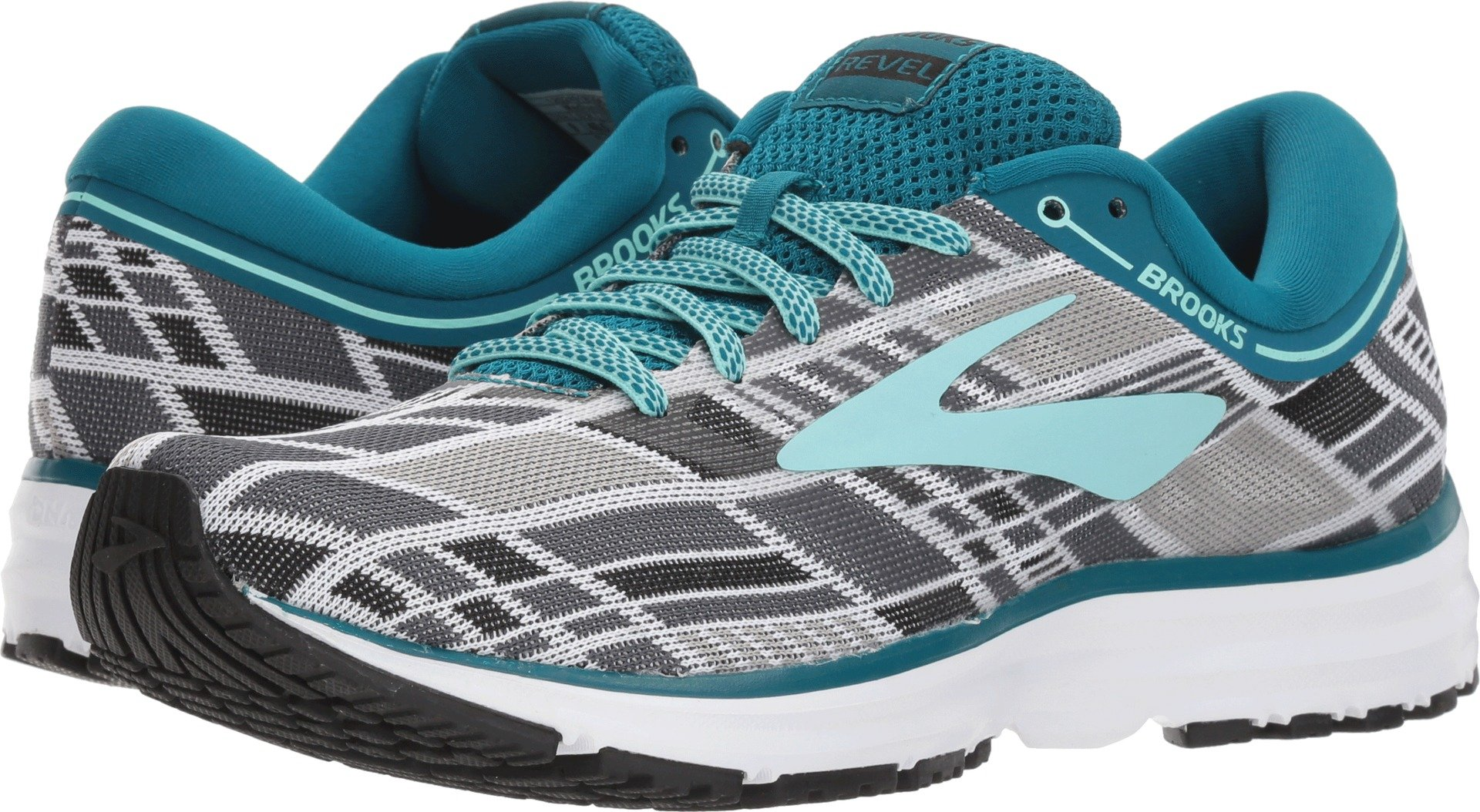 Brooks Women's Revel Maadular Green/Mint/White 9 B US by Brooks