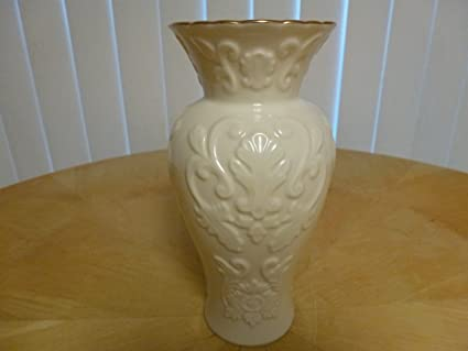 Amazon Lenox Ivory Vase W Gold Trim 725 Raised Design