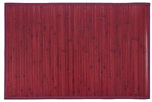 Bertha Hogar- Alfombra Bambú Kanda, color burdeos (140_x_200_cm)