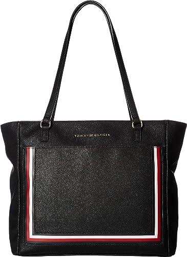 2d7ef4b30ac140 Amazon.com: Tommy Hilfiger Women's Carmen Tote Black One Size: Shoes