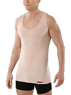 ALBERT KREUZ Camiseta Interior Invisible Color Carne/Piel/Beis con Cuello de Pico Profundo, sin Mangas y de algodón elástico: Amazon.es: Ropa y accesorios