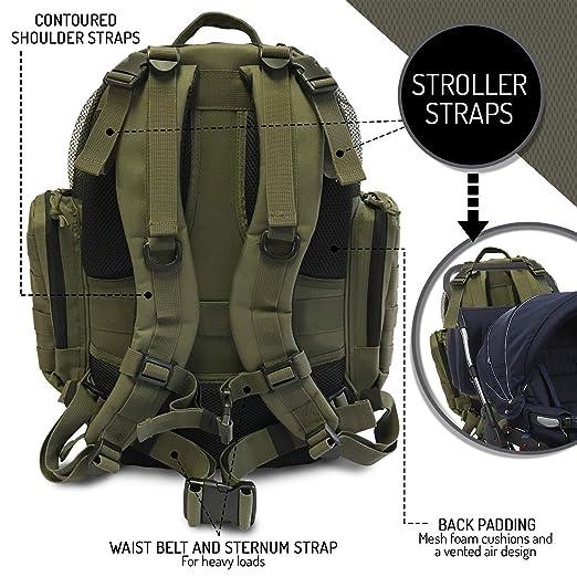 Amazon.com: HSD Mochila para pañales + cambiador, bolsillos ...