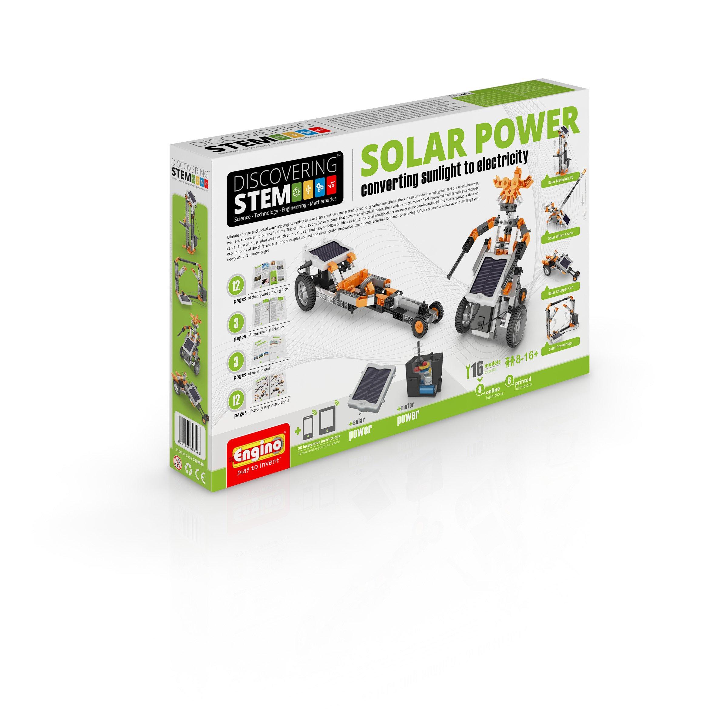 Engino S.T.E.M.  Solar Power Building Model Kit