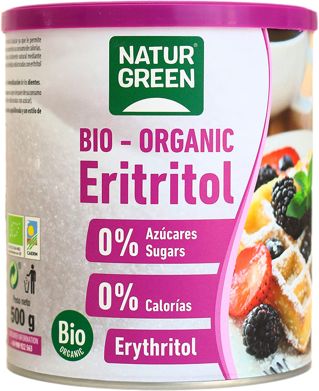 NaturGreen Eritritol -Pack de 2 unidades de 500 gr