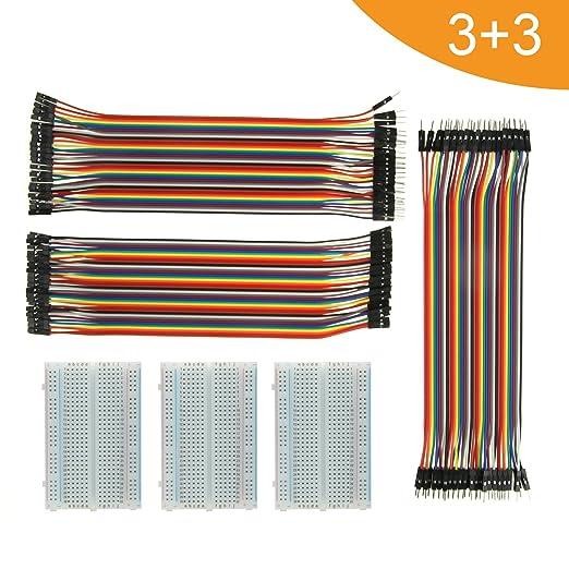 3 opinioni per Jumper Wire con Breadboard- ALLDE BJ-018 3pcs 400 Pin Breadboard E 3PCs 40 X 20