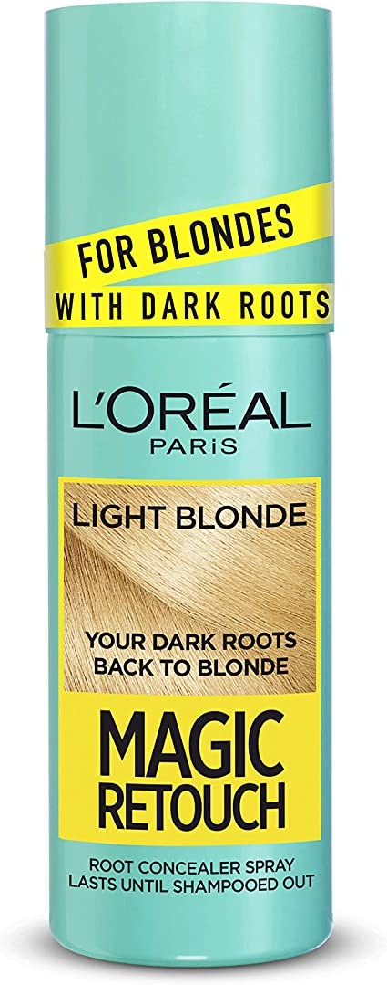 Spray de retoque mágico para el cabello, color rubio, para raíces oscuras, de LOreal