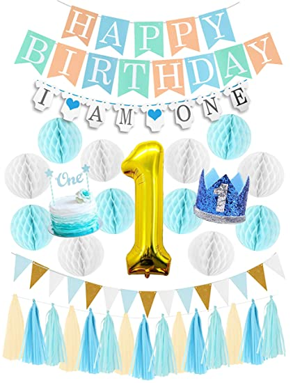 First Birthday Boy Decorations Set