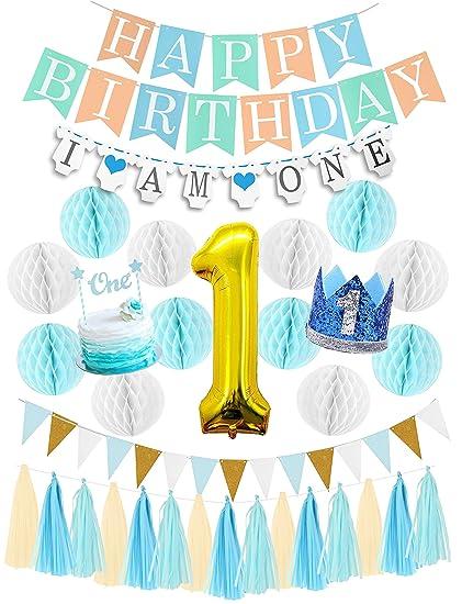 First Birthday Boy Decorations Set