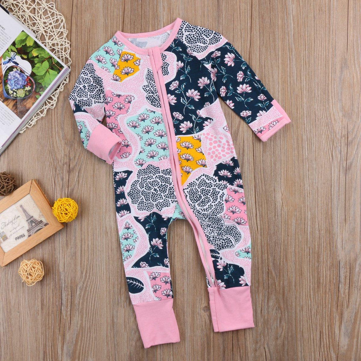 Amazon.com: Bebé recién nacido niña Pajamas Sleeper Ropa ...