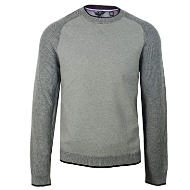 ab61f785f Ted Baker Jumper Mens Grey Marl Crew Neck Sweater  Amazon.co.uk  Clothing