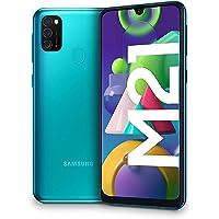 """Samsung Galaxy M21 - Smartphone Dual SIM de 6.4"""" sAMOLED FHD+, Triple Cámara 48 MP, 4 GB RAM, 64 GB ROM Ampliables, Batería 6000 mAh, Android, Versión Española, Color Verde"""